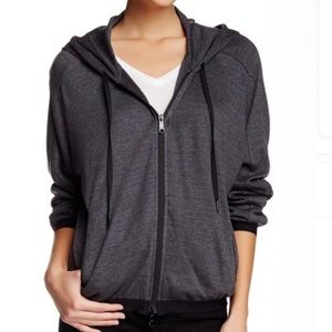 New Theory Gray Runi Valuable Jacket Hoodie p/tp